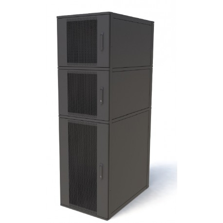 47u 600mm x 1000mm 3 Compartment CoLocation Server Rack