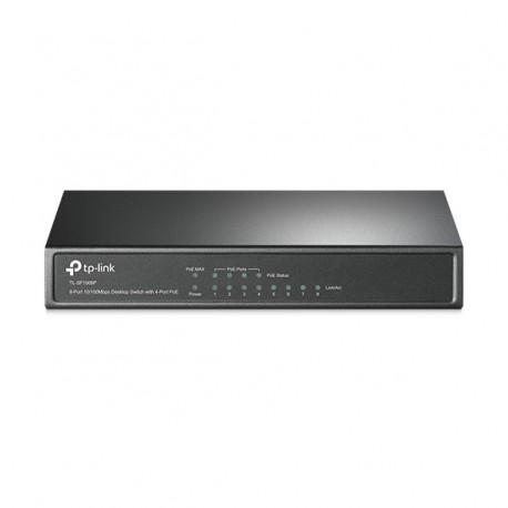 TP-LINK 8-Port 10/100Mbps Desktop PoE Switch with 4-Port
