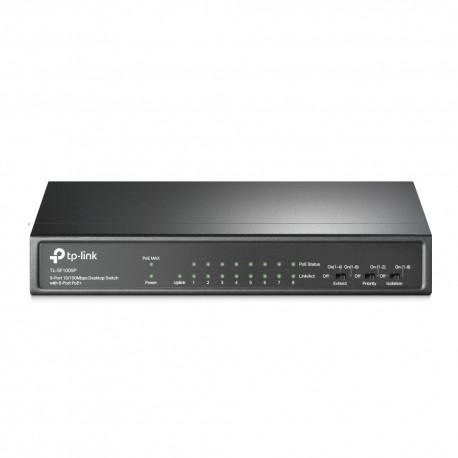 TP-LINK 9-Port 10/100Mbps Desktop Switch with 8-Port PoE+