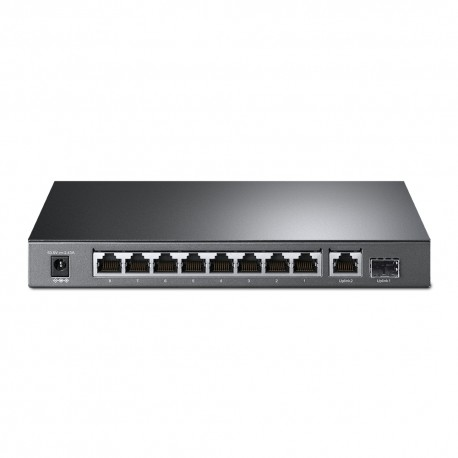 TP-LINK 8-Port 10/100Mbps + 2-Port Gigabit Desktop Switch with 8-Port PoE+